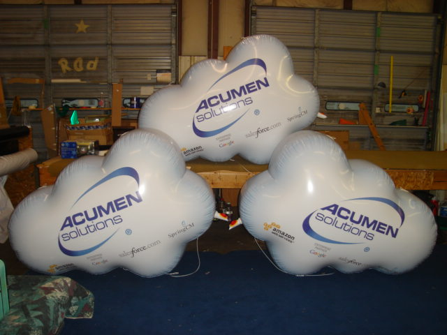 cloud balloons with logo